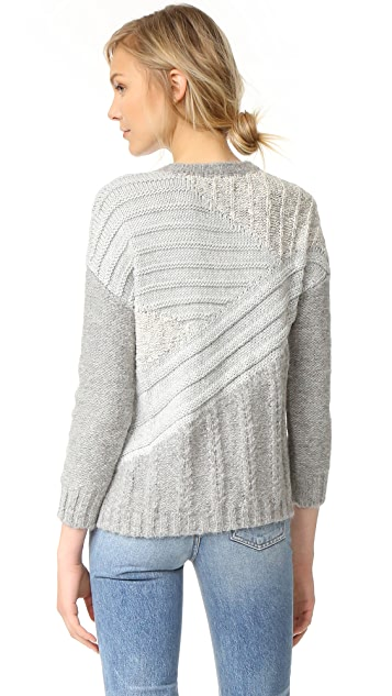 Current/Elliott The Mixed Cable Sweater