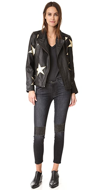 Current/Elliott The Stiletto Jeans with Patches