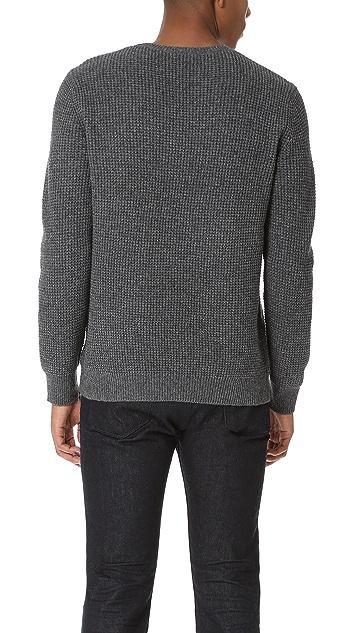 Current/Elliott Waffle Crew Neck Sweater