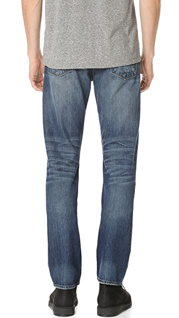 Current/Elliott Original Straight Fit Jeans