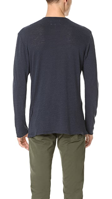 Current/Elliott Classic Fit Long Sleeve Tee