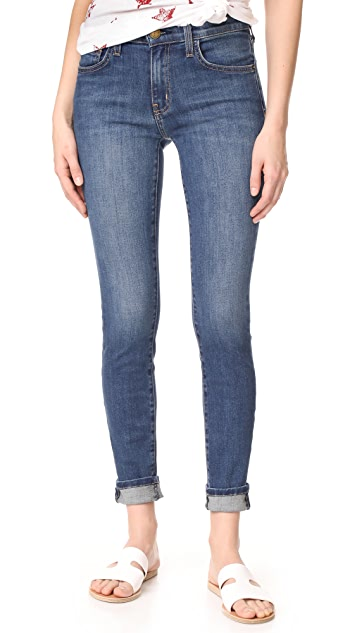 Current/Elliott High Waisted Skinny Jeans