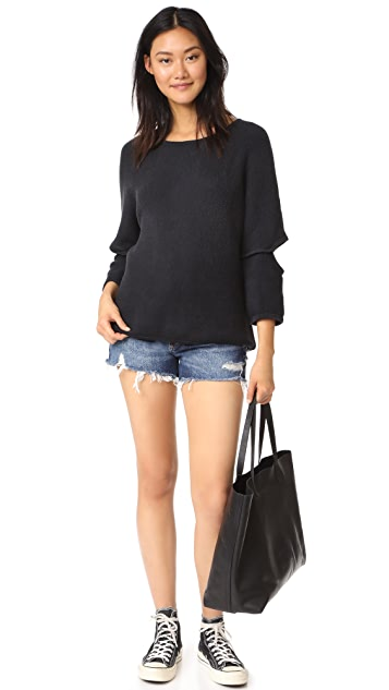Current/Elliott Easy Cutout Sweater
