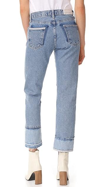 Current/Elliott The DIY Original Straight Jeans