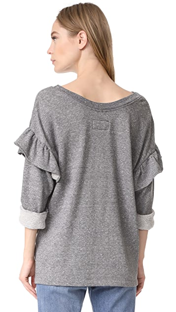 Current/Elliott The Ruffle Sweatshirt