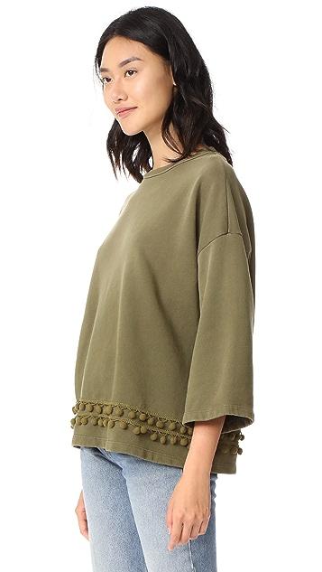 Current/Elliott The Pom Pom Sweatshirt