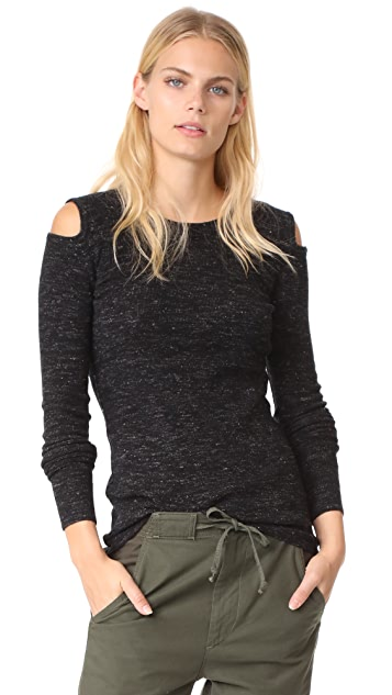 Current/Elliott The Melange Cutout Sweatshirt