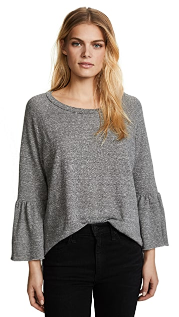 Current/Elliott The Ruffle Sleeve Sweatshirt