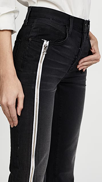 Current/Elliott The Dallon Zipped Straight Jeans