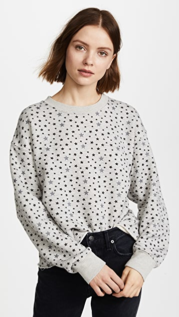 Current/Elliott The Slouchy Crop Sweatshirt - Mixed Star Print