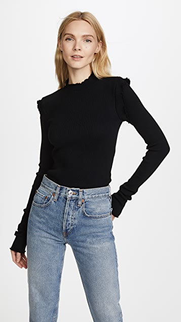 Current/Elliott The Ruffle Rib Top