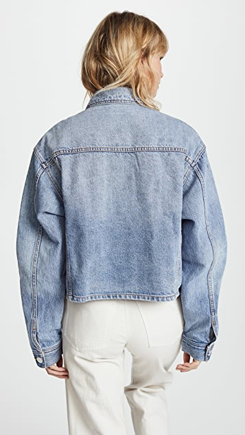 Current/Elliott Collin Cropped Denim Jacket