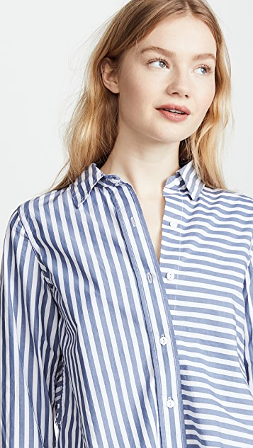 Current/Elliott The Des Tie Back Shirt