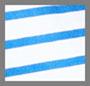 Bright Blue & White Stripe