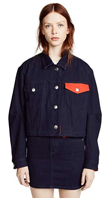 Current/Elliott The Collin Cropped Denim Jacket