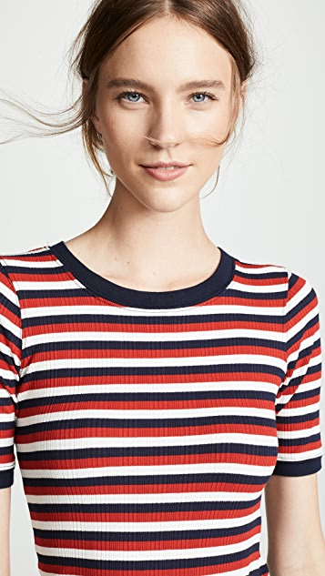Current/Elliott The Dorthea Ribbed Tee