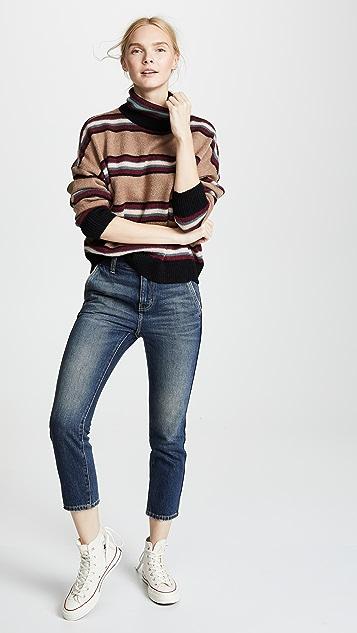 Current/Elliott The Cropped Confidant Trouser Jeans