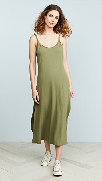 Current/Elliott The Twisted Dress - Loden Green