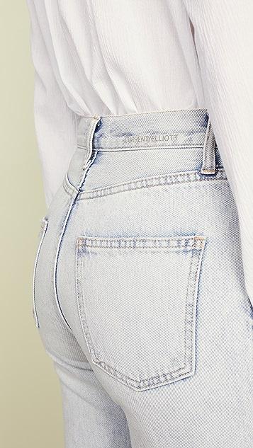 Current/Elliott Винтажные укороченные узкие джинсы