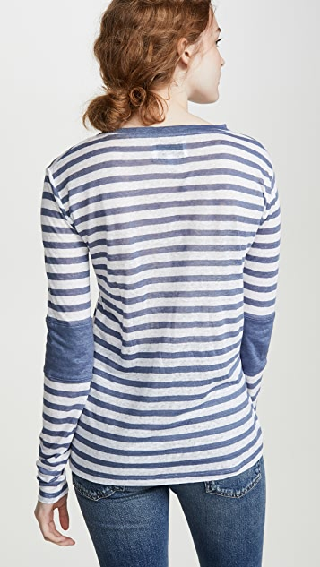 Current/Elliott The Hallan Top With Sleeve Inserts