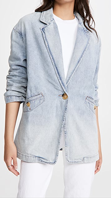 Current/Elliott The Denim Rachel Blazer