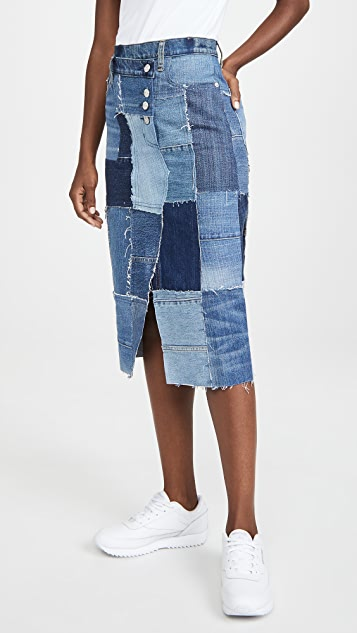 Current/Elliott The Patchwork Skirt