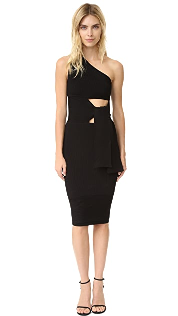 Cushnie Et Ochs One Shoulder Knit Dress