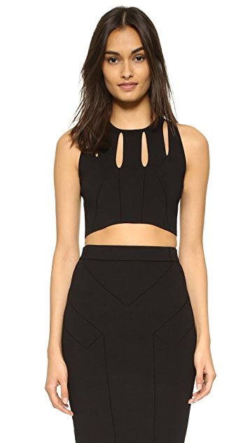 Cushnie Et Ochs Cropped Sleeveless Top