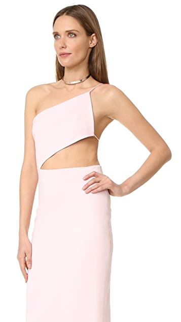 Cushnie Et Ochs Asymmetrical Bodice Dress