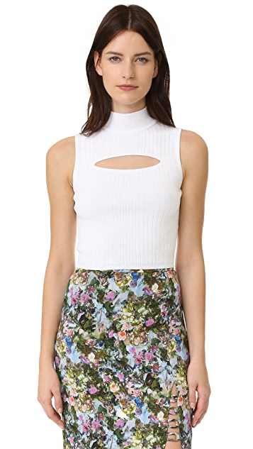 Cushnie Et Ochs Mock Neck Crop Top