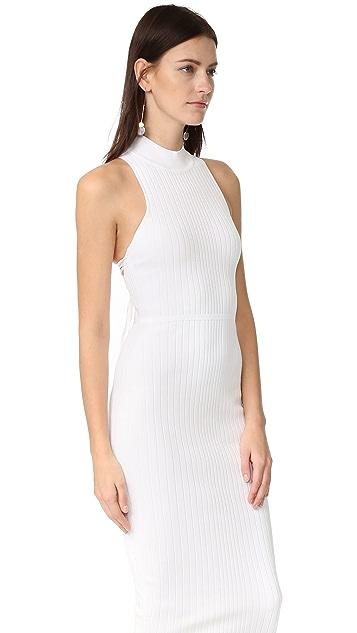 Cushnie Et Ochs Deep Racer Lace Up Dress