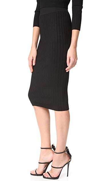 Cushnie Et Ochs Crisscross Waistband Pencil Skirt