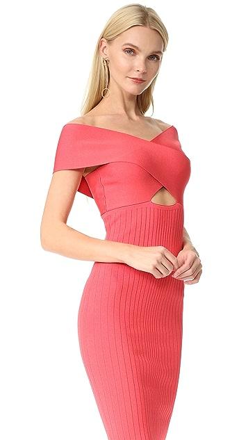 Cushnie Et Ochs Off the Shoulder Pencil Dress