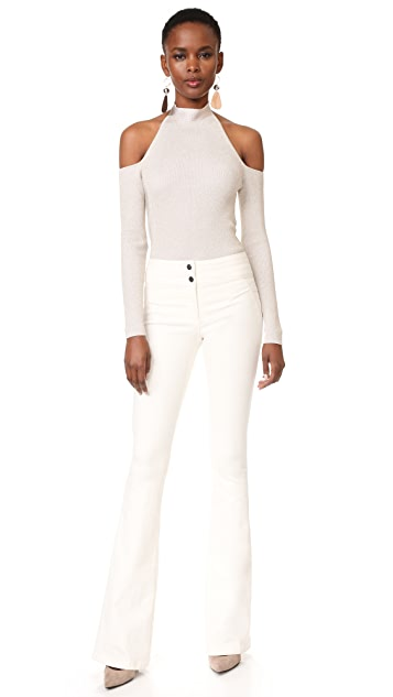 Cushnie Cold Shoulder Bodysuit
