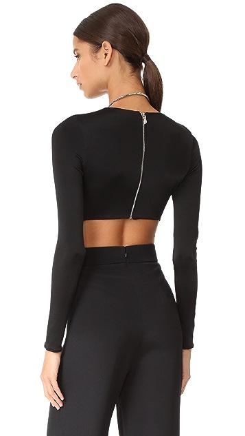 Cushnie Et Ochs Thong Bodysuit with Open Back