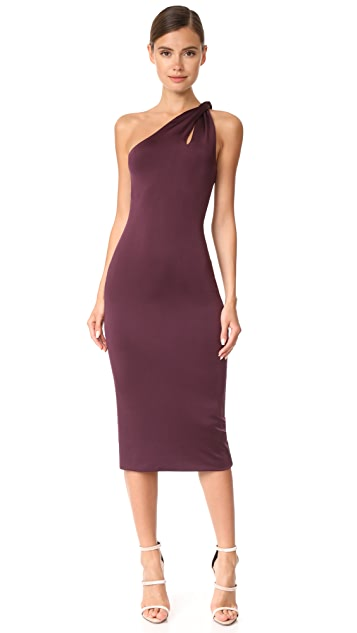 Cushnie One Shoulder Dress with Twisted Strap