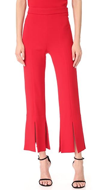 Cushnie Et Ochs Cropped Pants with Slits at Hem