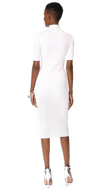 Cushnie Et Ochs Cutout Turtleneck Pencil Dress