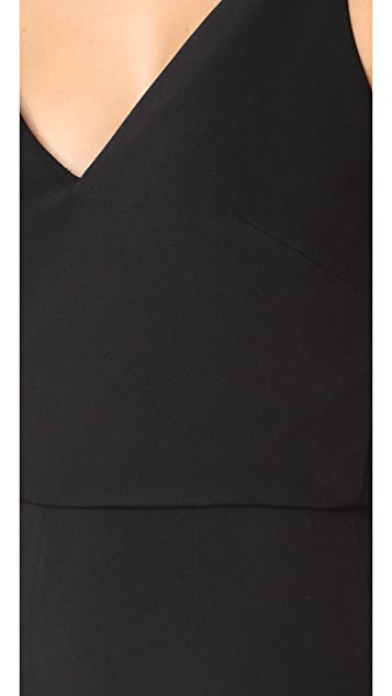 Cushnie Et Ochs Jagged Bodice Cropped Jumpsuit