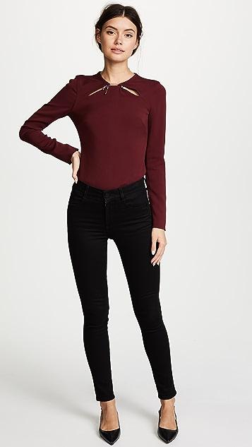 Cushnie Et Ochs Violetta Long Sleeve Top