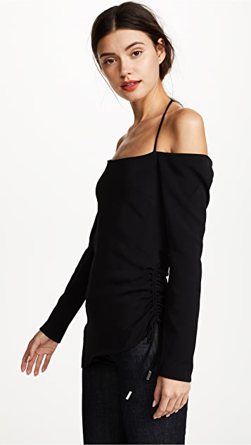 Cushnie Et Ochs Off Shoulder Halter Top