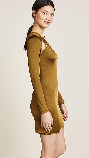Cushnie Sasha Cold Shoulder Dress
