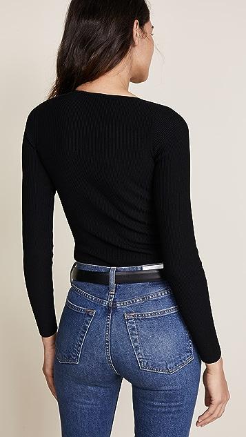 Cushnie Et Ochs Vivian Long Sleeve Bodysuit