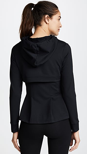 Cushnie Aurelia Hooded Zip Up Jacket