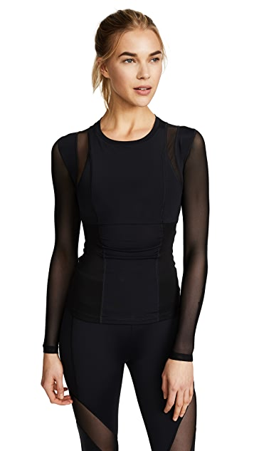 Cushnie Et Ochs Veda Long Sleeve Mesh Top