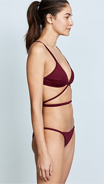 Cushnie Et Ochs Cece Bikini Top with Ring Detail
