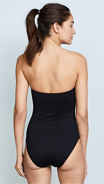 Cushnie Et Ochs Dakota Strapless One Piece Swimsuit