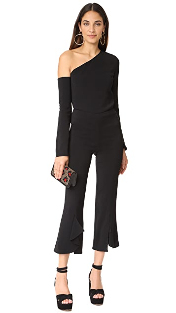 Cushnie Et Ochs Asymmetrical Off Shoulder Top