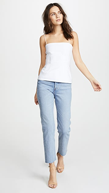 Cushnie Et Ochs Valeria Fitted Tank with Boning Detail