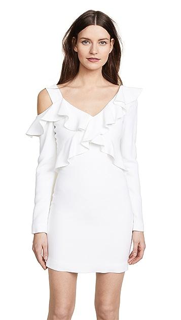 Cushnie Bella Cold Shoulder Mini Dress